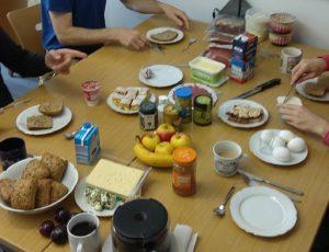 Frühstück statt Werkstück